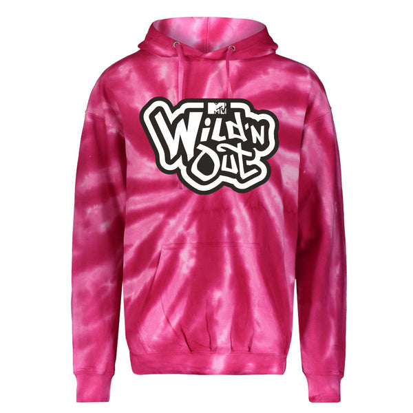 Wild 'N Out Pink Tie Dye Hooded Sweatshirt