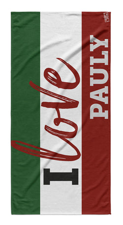 Jersey Shore Family Vacation I Love Pauly Beach Towel
