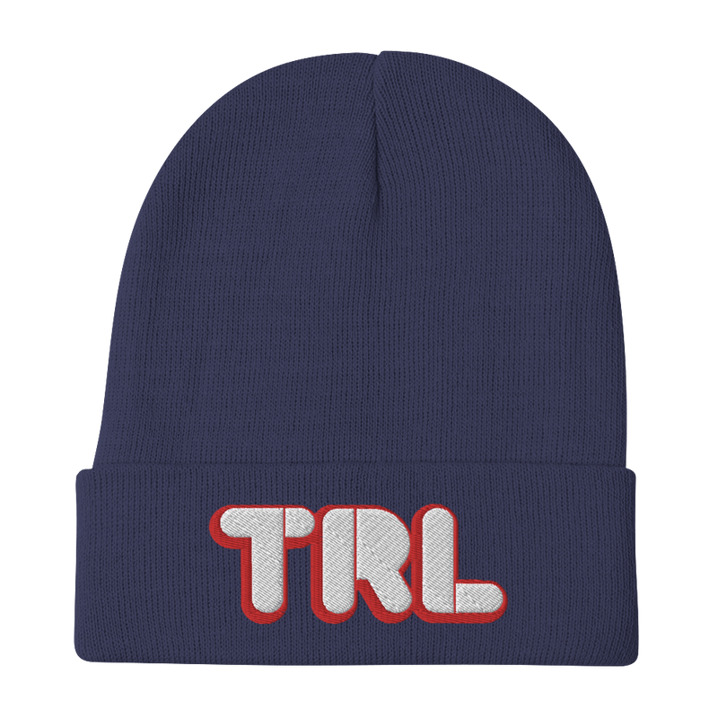 TRL Red Logo Embroidered Beanie