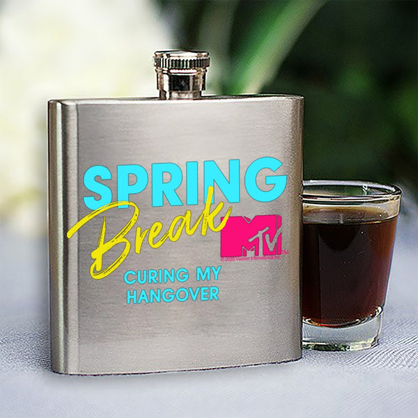 MTV Gear Spring Break Curing My Hangover Stainless Steel Flask