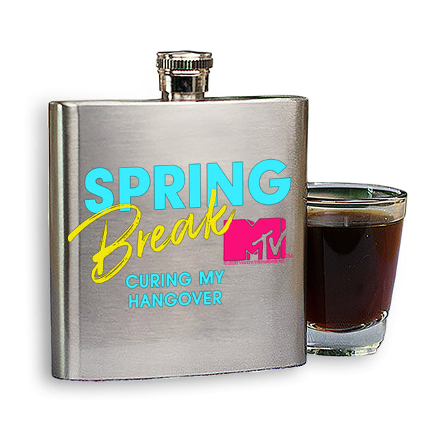 MTV Spring Break Curing My Hangover Stainless Steel Flask