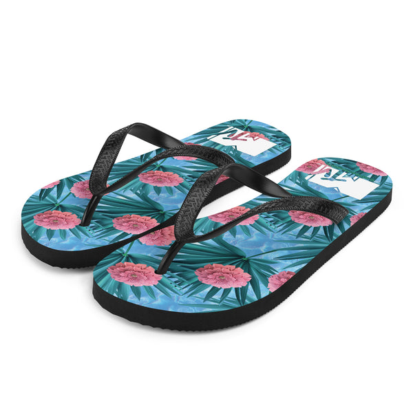 MTV Gear Spring Break Floral Print Adult Flip Flops