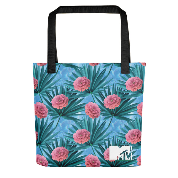 MTV Gear Spring Break Floral Print Premium Tote Bag