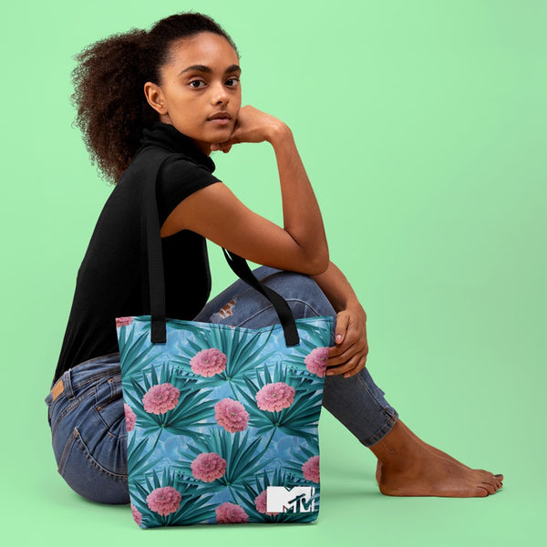 MTV Spring Break Floral Print Tote Bag