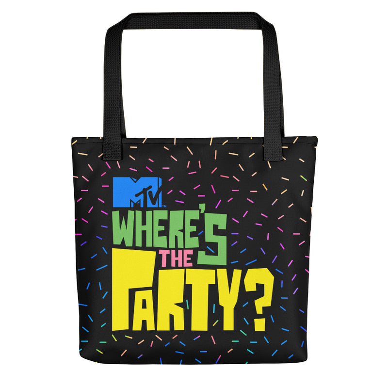 MTV Spring Break Logo Personalized Where's The Party Tote Bag