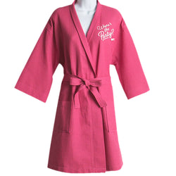 MTV Gear Spring Break Where's The Party Embroidered Waffle Robe