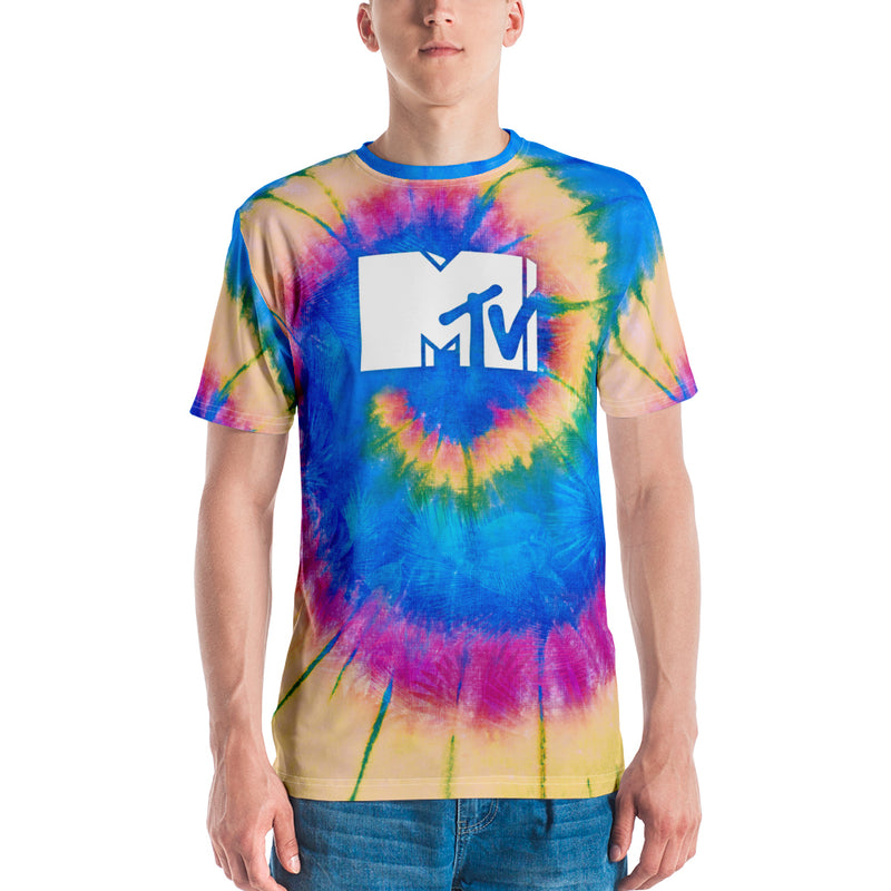 MTV Gear Spring Break Logo Tie Dye Adult All-Over Print T-Shirt