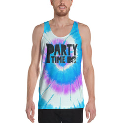 MTV Gear Spring Break Party Time Tie Dye Adult All-Over Print Tank Top