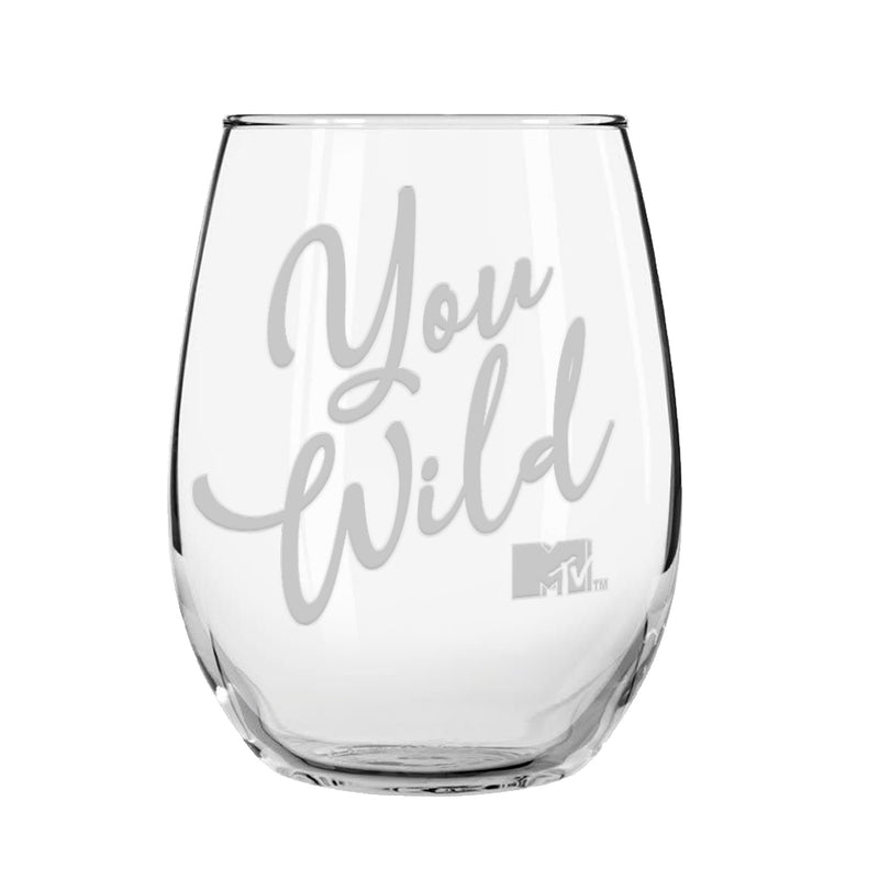 MTV Gear Spring Break You Wild Laser Engraved Stemless Wine Glass
