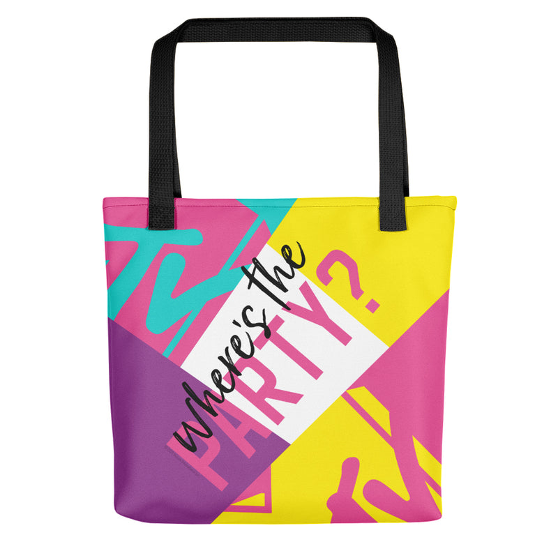 MTV Gear Spring Break Where's The Party? Premium Tote Bag