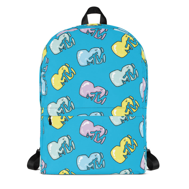 MTV Gear Logo Blue Premium Backpack