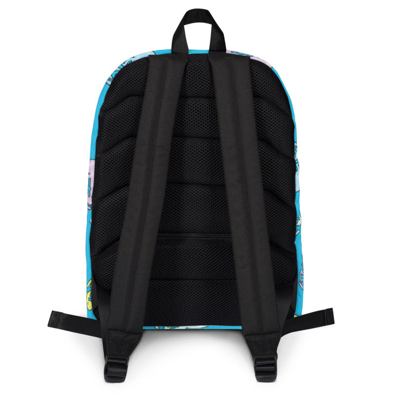 MTV Logo Blue Premium Backpack