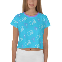 MTV Gear MTV Beachy Women's All-Over Print Crop T-Shirt