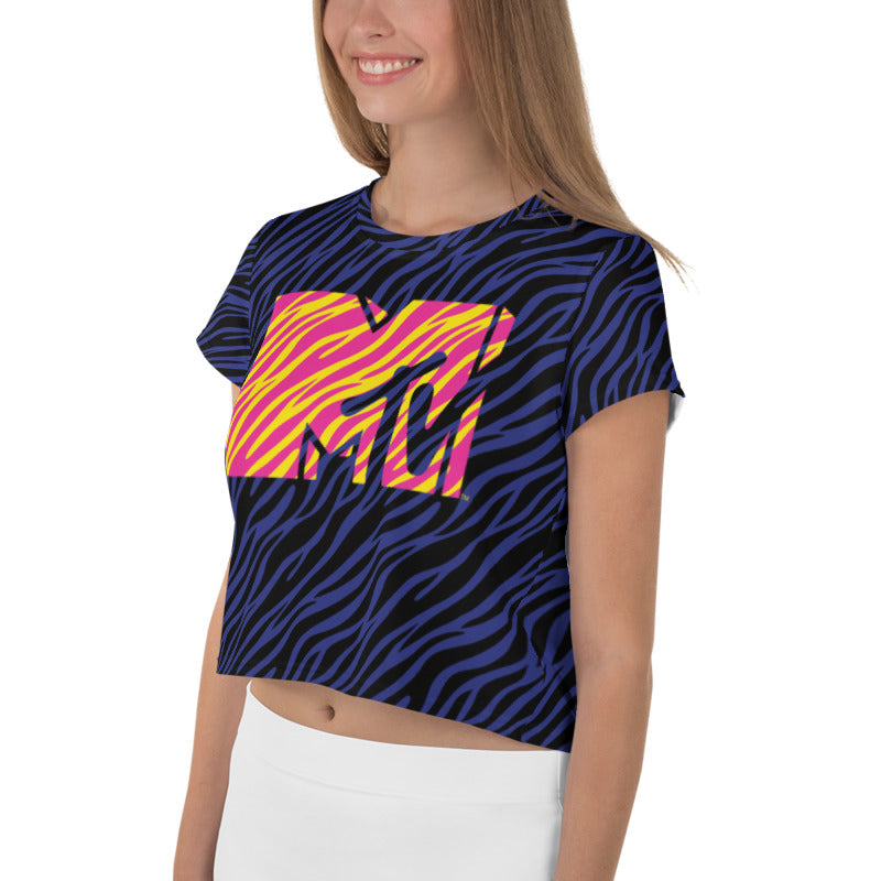 MTV Zebra Print Crop Top