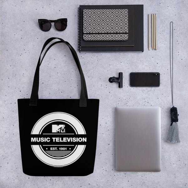 MTV Music Television Classic Canvas Tote Bag
