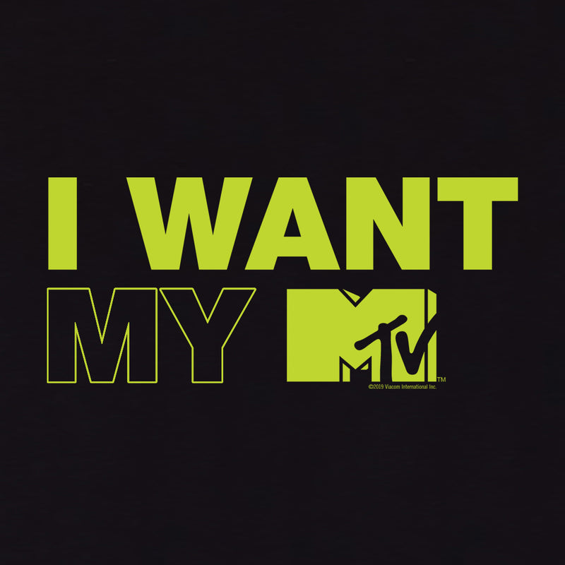 MTV Gear I Want My MTV 3/4 Sleeve Baseball T-Shirt