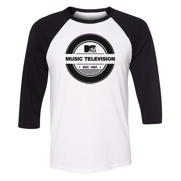 MTV Gear Record 3/4 Sleeve Baseball T-Shirt