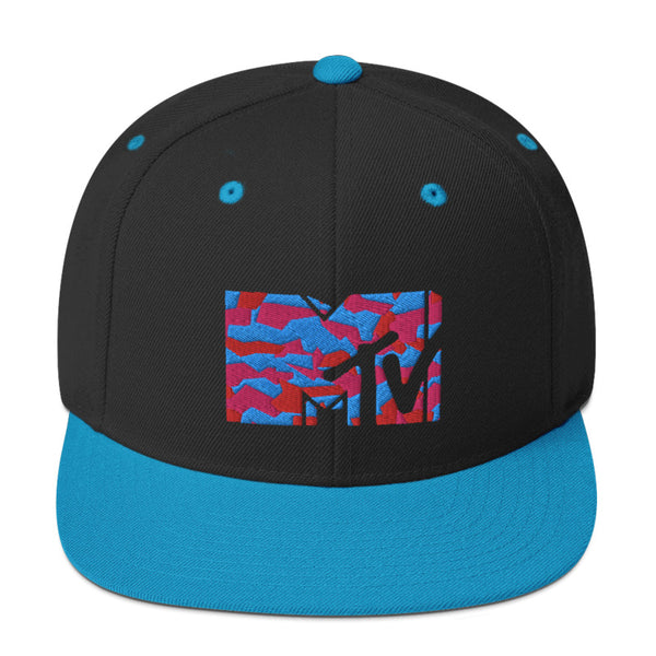 MTV Zig Zag Pattern Flat Bill Hat