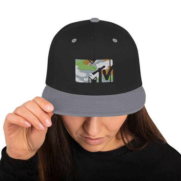 MTV Camo Flat Bill Hat