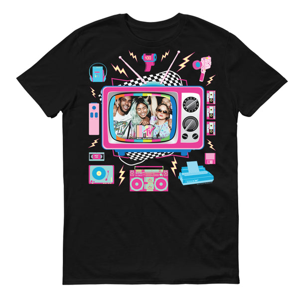 MTV Personalized TV Photo Upload Adult Short Sleeve T-Shirt
