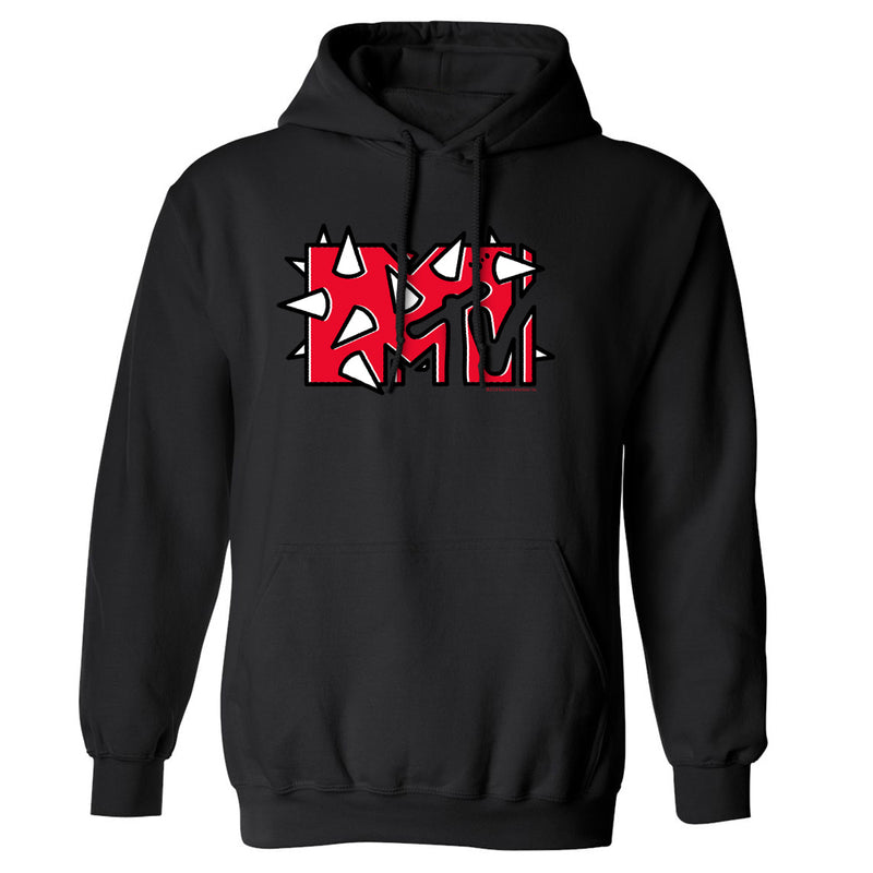 MTV Gear Red Logo Fleece Hooded Sweatshirt