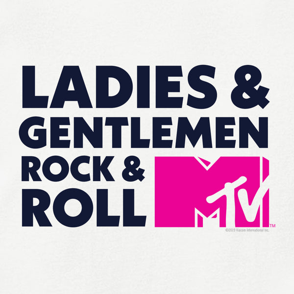 MTV Gear Ladies & Gentlemen Rock & Roll Women's Relaxed Scoop Neck T-Shirt