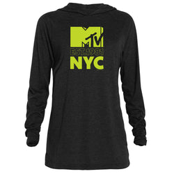 MTV Gear NYC Adult Tri-Blend Raglan Hoodie