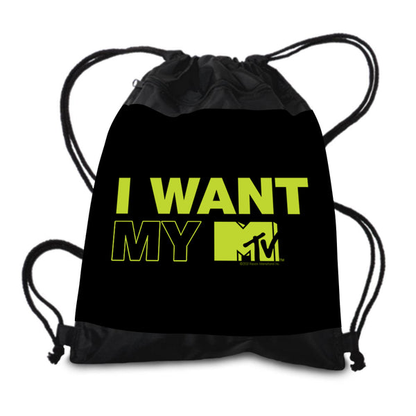 I Want My MTV Drawstring Bag