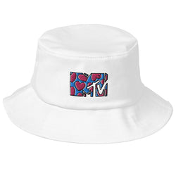 MTV Love Embroidered Bucket Hat