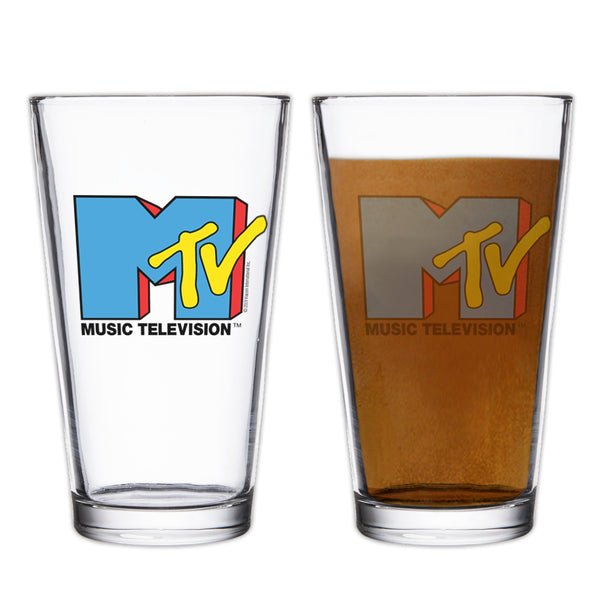 MTV Gear MTV Music Television Pint Glass 17 oz Pint Glass