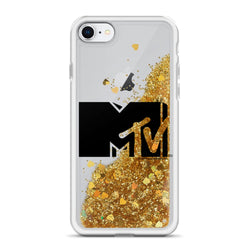 MTV Gear MTV Black Logo Glitter iPhone Case Liquid Glitter iPhone Case