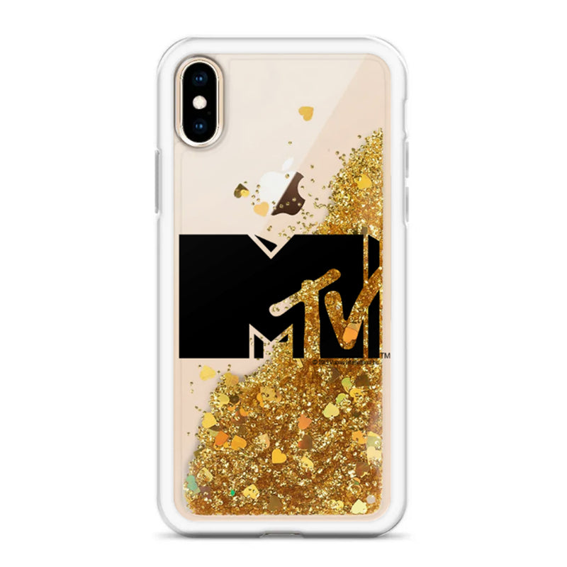 MTV Black Logo Glitter iPhone Case