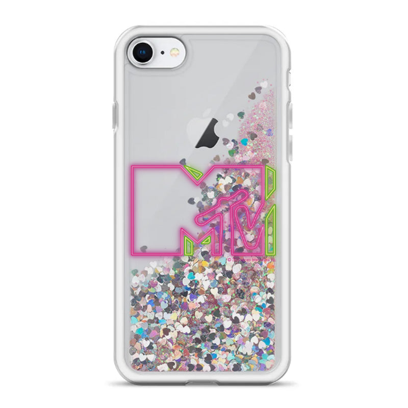 MTV Gear MTV Pink Neon Logo Glitter iPhone Case Liquid Glitter iPhone Case