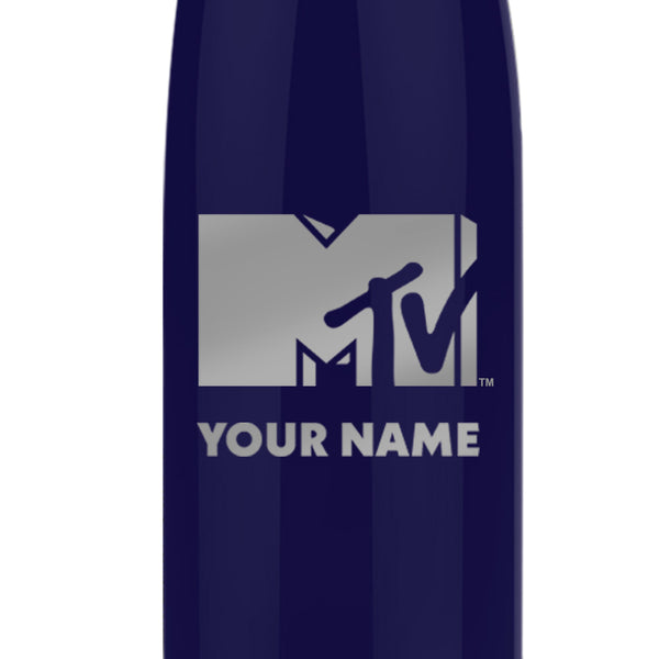 MTV Gear MTV Personalized Slim Water Bottle 17 oz Stainless Steel Slim Water Bottle