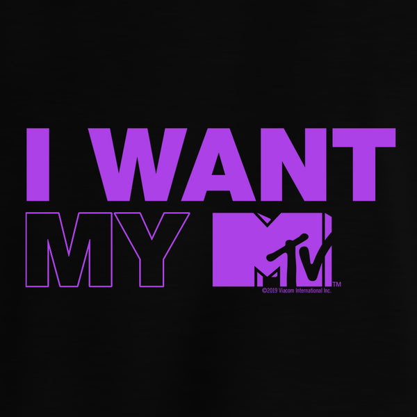I Want My MTV Women's Crop Sweatshirt
