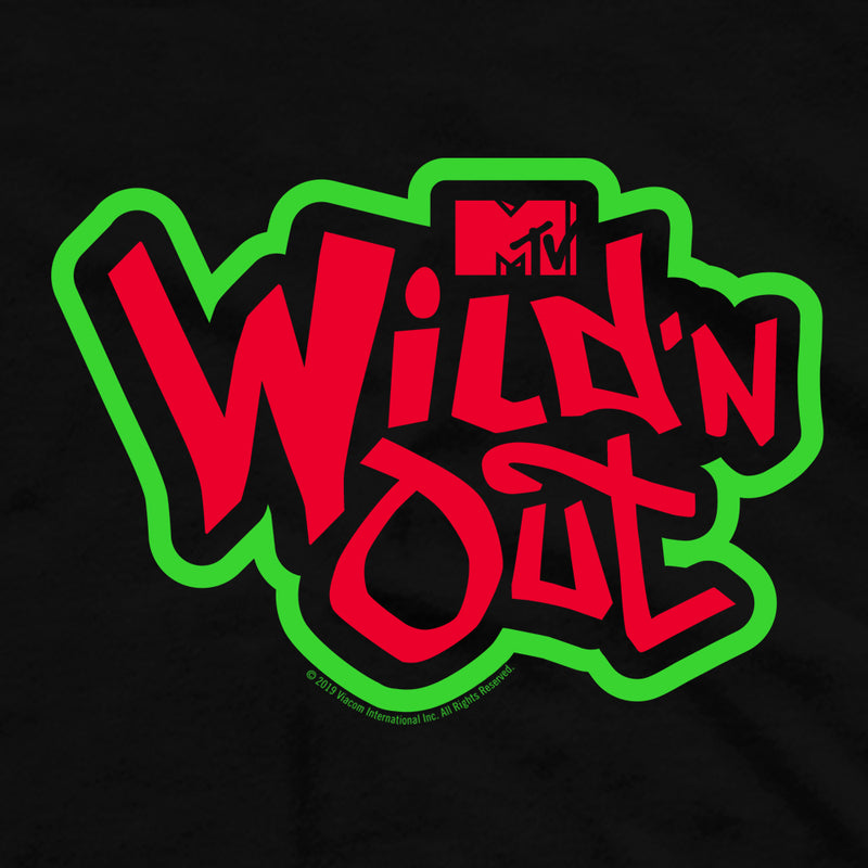 Wild 'N Out Green and Red Logo Adult Short Sleeve T-Shirt