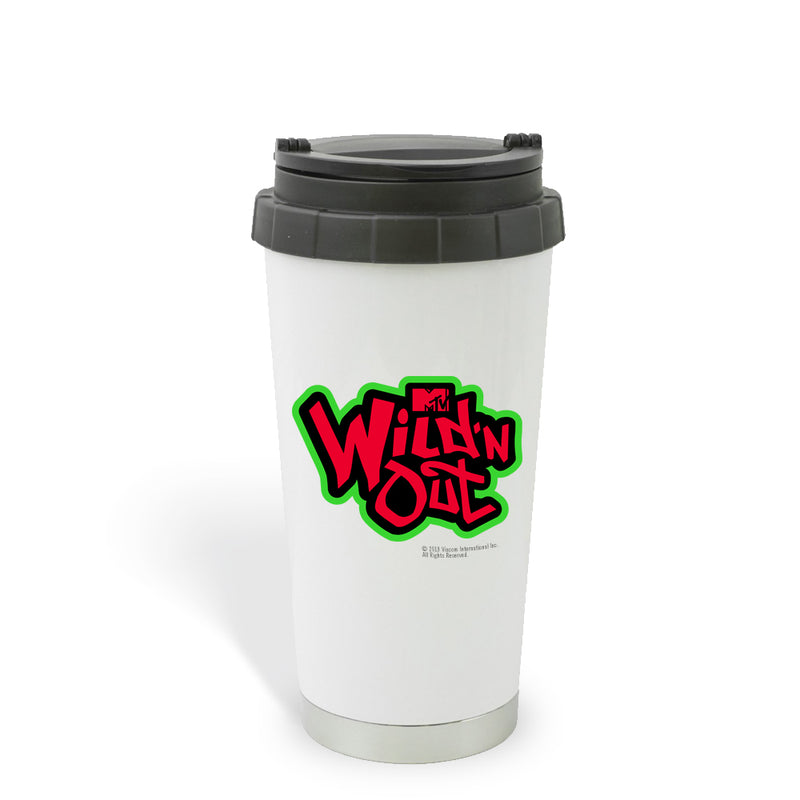 Wild 'N Out Green Red & Black Logo Travel Mug