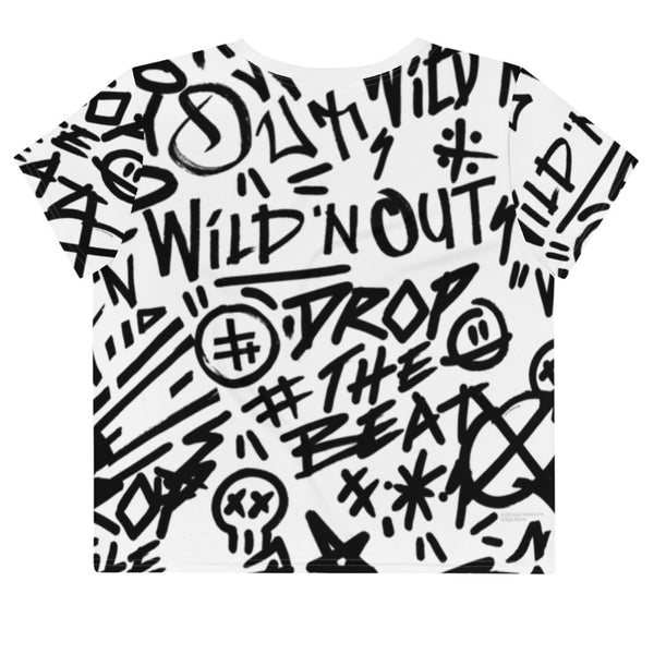 Wild 'N Out Graffiti Women's All-Over Print Crop T-Shirt