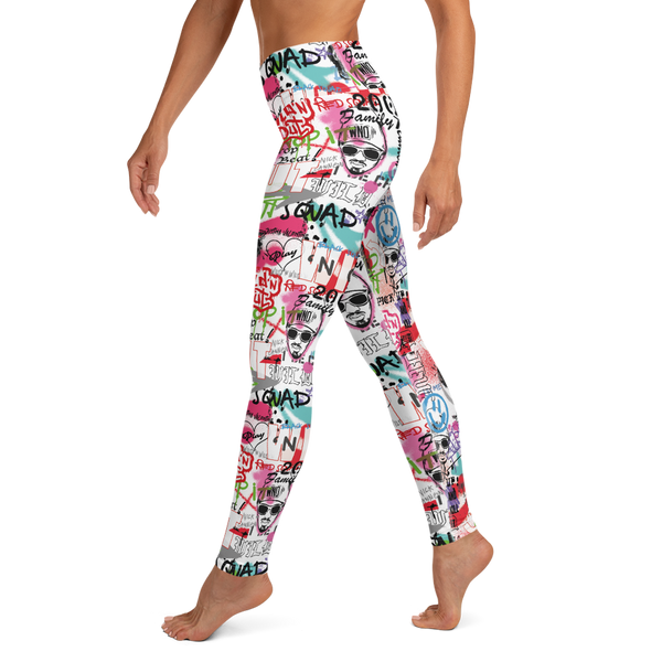 Wild 'N Out Graffiti Women's All-Over Print Yoga Leggings