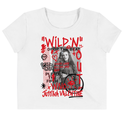 Wild 'N Out Justina Valentine Women's All-Over Print Crop T-Shirt