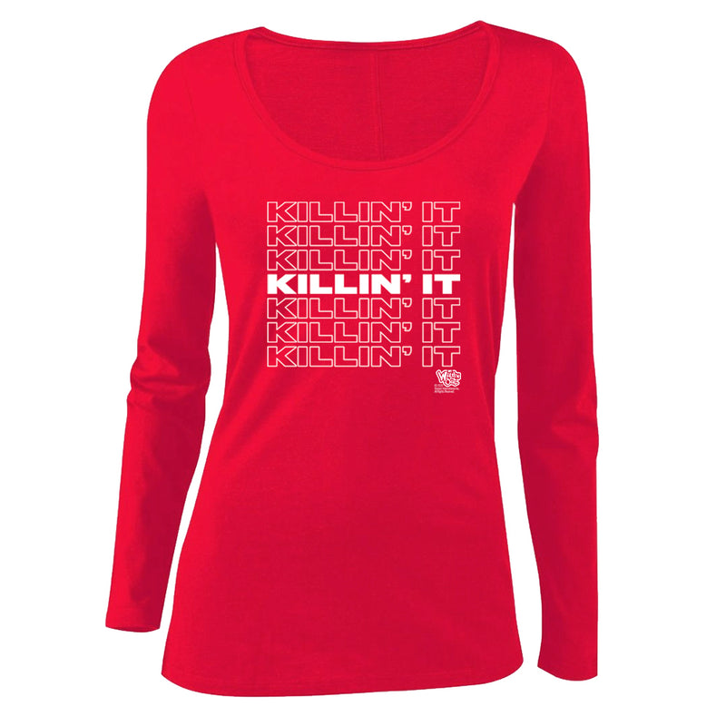 Wild 'N Out Killin' It Women's Scoop Neck Long Sleeve Shirt