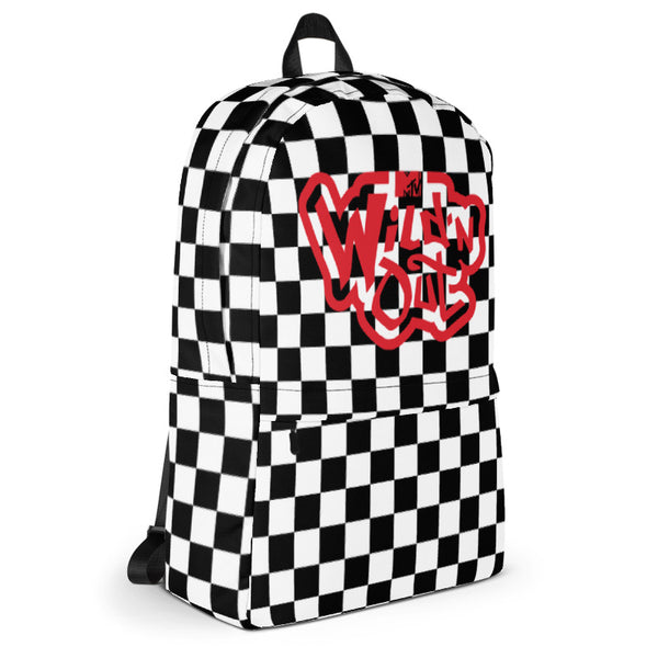 Wild 'N Out Checkered Backpack