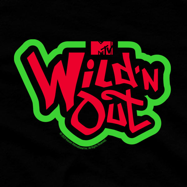 Wild 'N Out Red and Green Logo Women's Fleece Crop Sweatshirt