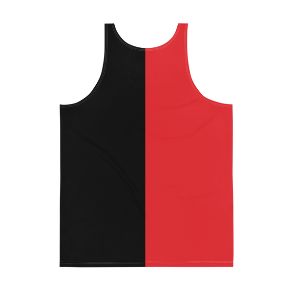 Wild 'N Out Red & Black Split Adult All-Over Print Tank Top