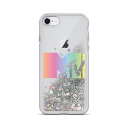 MTV Rainbow Logo Glitter iPhone Case