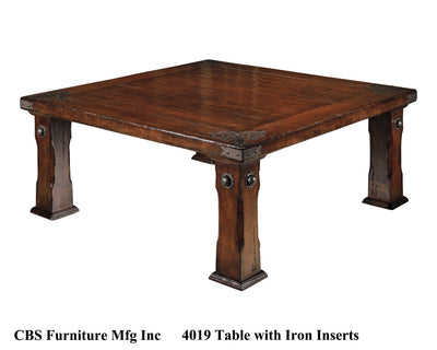 4019 DINING TABLE WITH IRON INSERTS