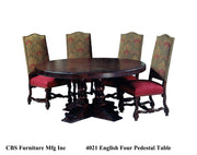 4021 ENGLISH FOUR PEDESTAL DINING TABLE