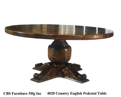 4020 COUNTRY ENGLISH PEDESTAL DINING TABLE