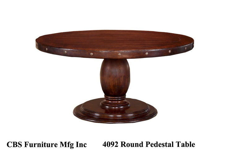 4092 ROUND PEDESTAL DINING TABLE