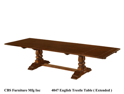4047 ENGLISH TRESTLE DINING TABLE